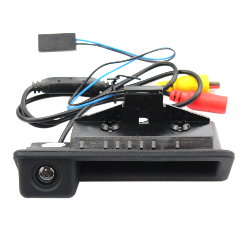 3 F30 X3 Series F25 5 F11 LIEBMAYA 170 degree Car Trunk Handle Backup Camera Rear View HD Camera Parking Backup Camera for BMW 5 F10