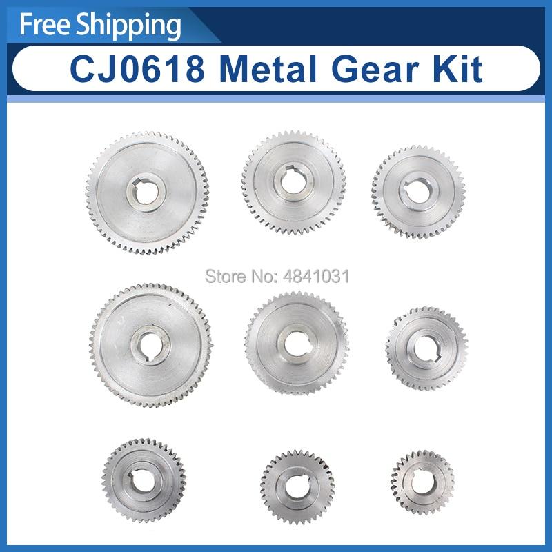 9pcs mini lathe gears Metal Cutting Machine gears CJ0618 lathe gears