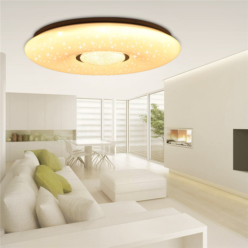 54W 2835SMD 36 LED Ceiling Lamp Led Light Bulbs Starlight Stars Sky 3 color Dimmable with 54W 2835SMD 36 LED Ceiling Lamp Led Light Bulbs Starlight Stars Sky 3-color Dimmable with Remote Control IP44 180V-240V