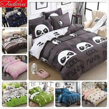 Panda Pattern Duvet Cover 3/4 Pcs Bedding Set Adult Kids Cotton Bed Linen Single Twin Queen Super King Size Bedspreads 150x200