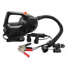 Bomba de aire eléctrica recargable para Kayak, barco, piscina, cojines de aire, soplador portátil automático, 12V, 100W