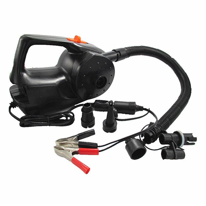 Pompe à Air gonflable électrique de pompe rechargeable de voiture de 12V 100W pour le bateau de Kayak coussins d'air de piscine ventilateur portatif automatique de boule
