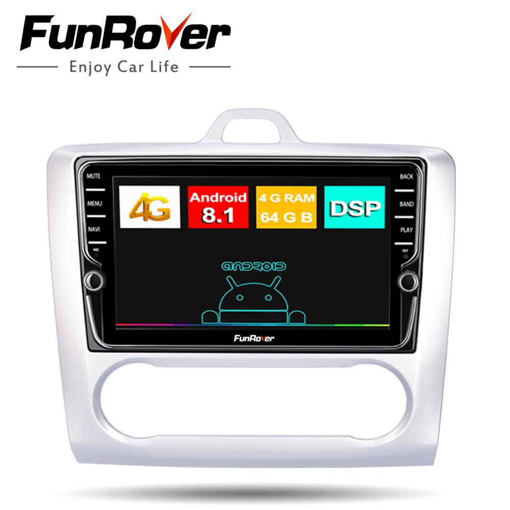 Funrover 2 din Android 8 1 font b Car b font DVD Multimedia Player GPS stereo
