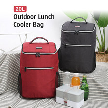 Outdoor Insulated Lunch Bag Cooler 20L Camping BBQ Picnic Lunch Box Tote Backpack Thermal Bento Box Food Storage Shoulder Bag(China)