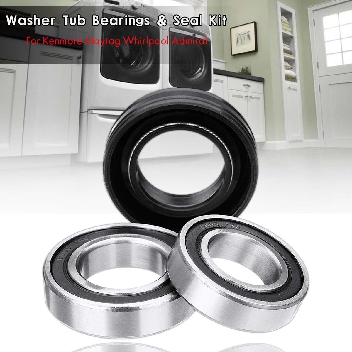 Bearing and Seal Kit for Whirlpool WTW6500WW1 WTW6600SB0 WTW6700TU1 WTW6800WB1