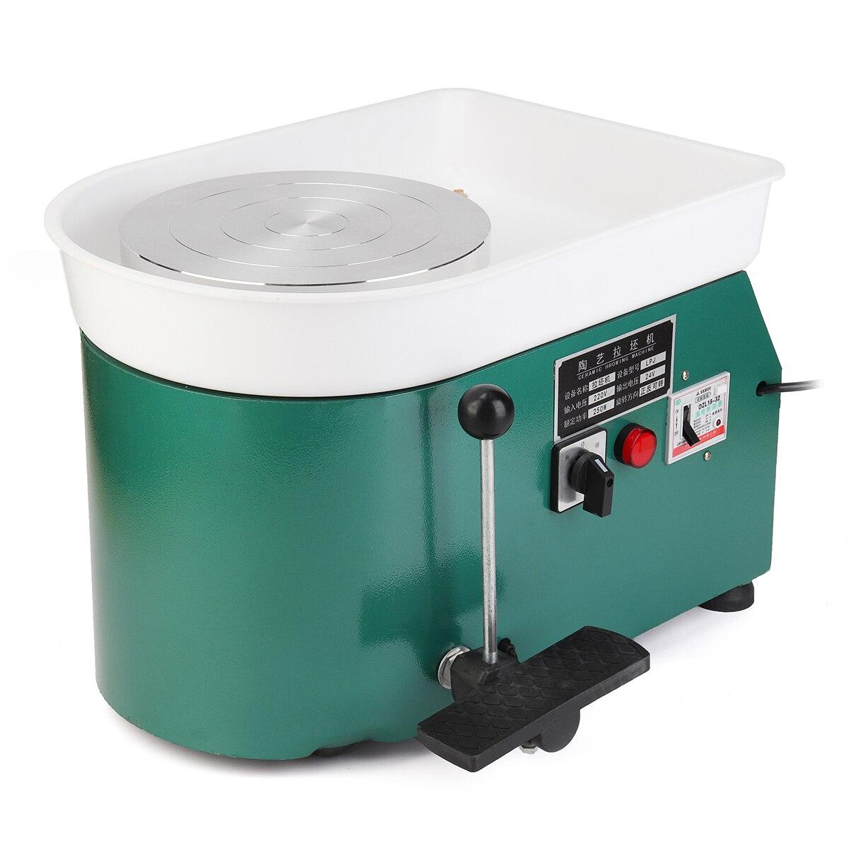 220 V 250 W 1 Set couleur verte AU Plug électrique poterie roue en céramique Machine argile pour travaux pratiques Art artisanat outil équipement