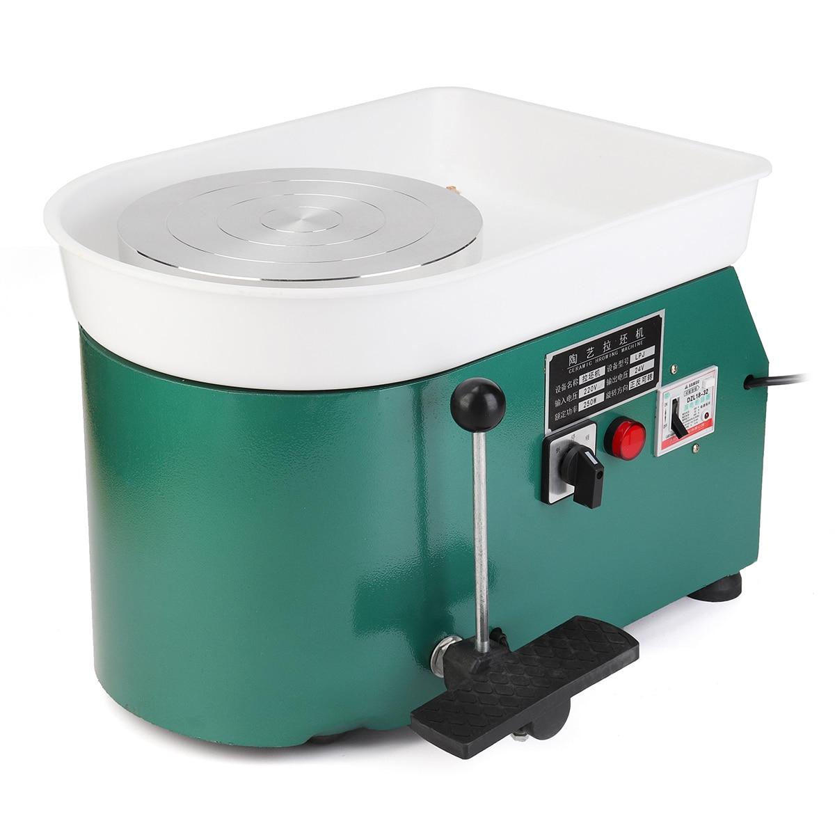 220 v 250 w 1 set Vert Couleur Plug UA Électrique Poterie Roue En Céramique Machine DIY Argile Art Artisanat Outil équipement