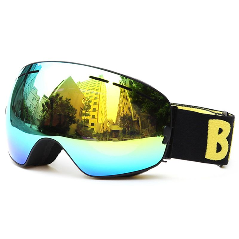BE NICE New Brand Outdoor Double Lens UV400 Anti-Fog Ultralight Skiing Eyewear Women Men Snowboarding Goggles With Elastic Bel