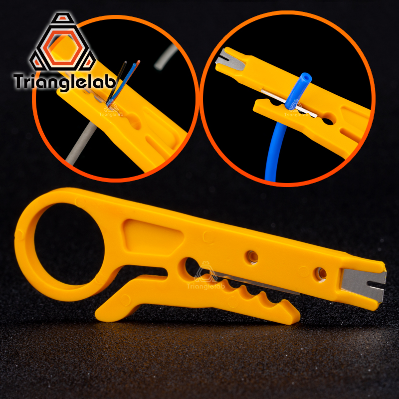 Trianglelab Mini Portable Wire Stripper Knife PTFE Tube Cutter For 3d Printer Teflonto Tube  Hotend I3 Mk8  Extruder Kit Tools