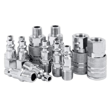 14pcs Air Line Hose Compressor Fitting 1/4 Inch Bsp Metal Connectors Coupler Male Female Quick Release Set