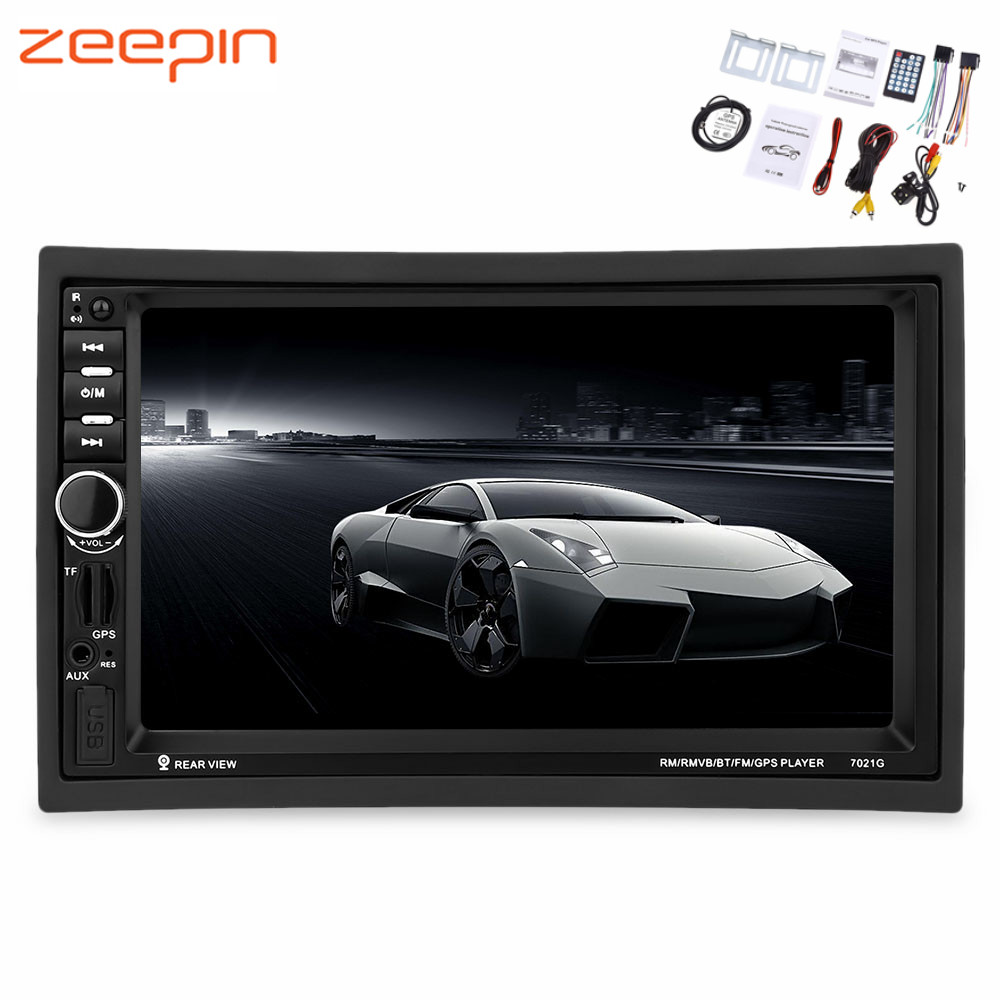 Zeepin 7021G 2 Din 7 inch Vehicle MP5 Player Bluetooth FM Radio GPS European Map with Rear View Camera Remote ControlZeepin 7021G 2 Din 7 inch Vehicle MP5 Player Bluetooth FM Radio GPS European Map with Rear View Camera Remote Control
