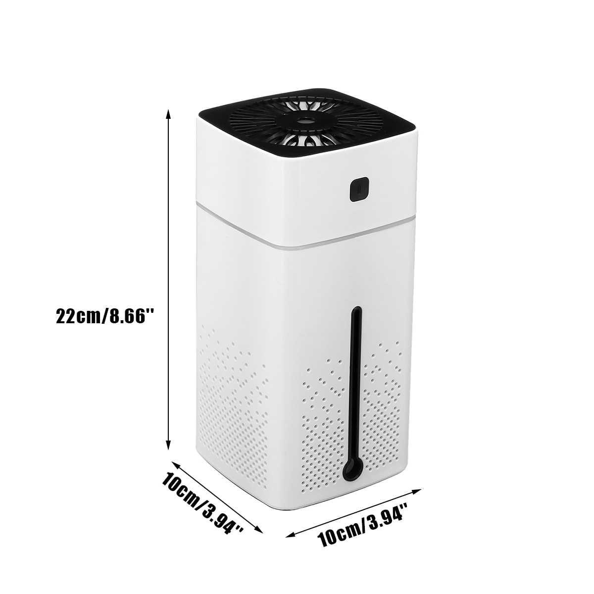 家庭用空気清浄エッセンシャルアロマオイルディフューザー 7 色 led ナイトライト清浄機オフィス車室超音波 usb 変更