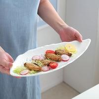 Fashion Japanese Kitchen Fish Dish Creative Rectangular Steak Plate Western Dish Sushi New Dinner Plate Kitchen Dining Tableware