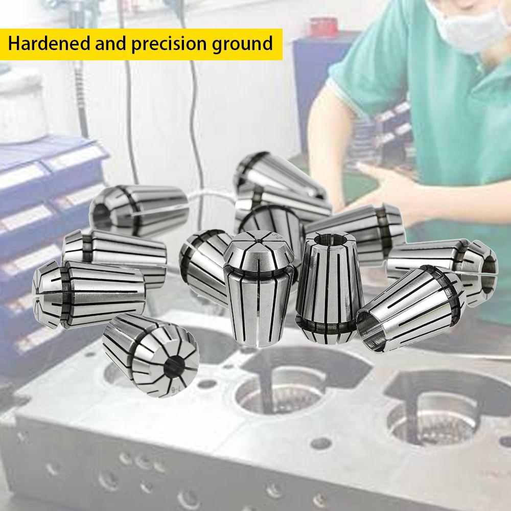 13PCS ER20 Spring Collet Set  For CNC Milling Lathe Tool Engraving Machine
