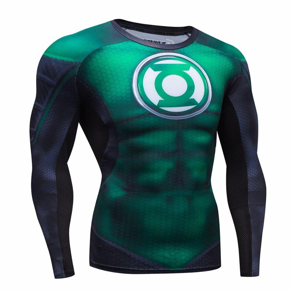 2016 Herbst Winter Kompression Shirt Atmungsaktive Mesh Fitness Cothing Marke Kleidung Für Männer Quick Dry 3d Männer Crossfit S-2xl Sparen Sie 50-70%
