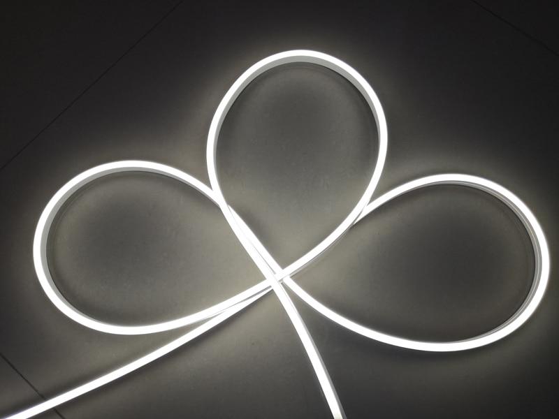 24VDC 9 Вт 5 м/рулон яркий светодиодный прожектор неоновые полоски горизонтальный изгиб гибкие теплые белые светодиодные неоновые полосы для офиса - 4