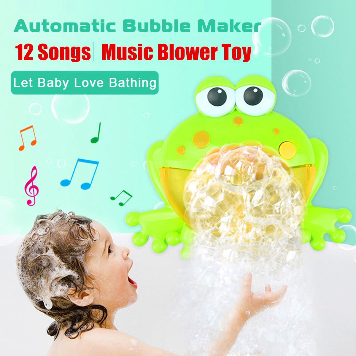 Baby Bath Toy Bubble Frogs Crab Machine Automatic Blower Maker Bath Music Toy Outdoor Bathtub Soap Machine Toy for Kids Children