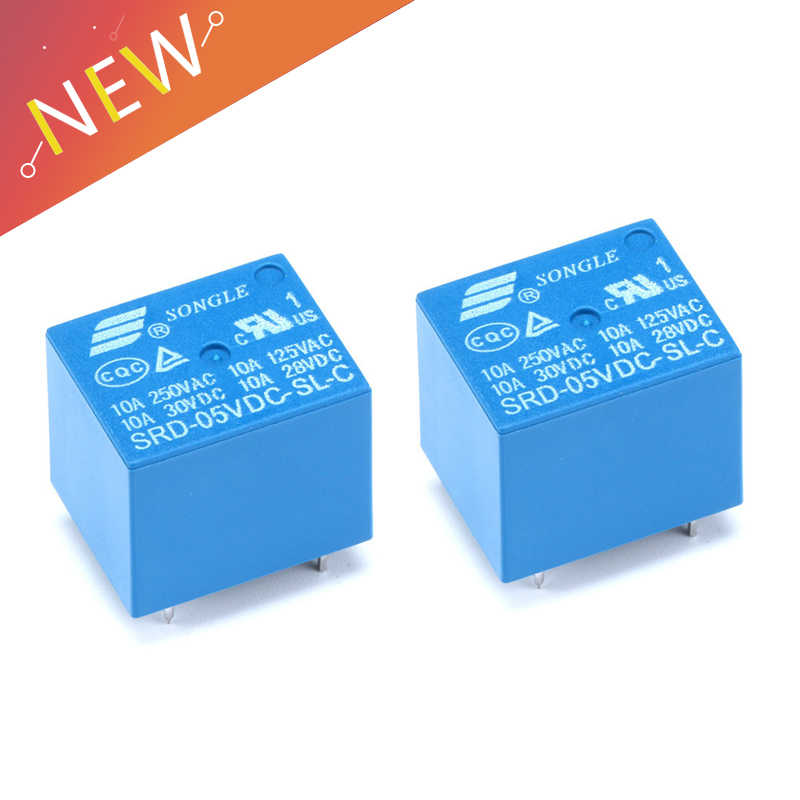 10pcs ORIGINAL SRD-12VDC-SL-C 12VDC SONGLE Relay 5Pins