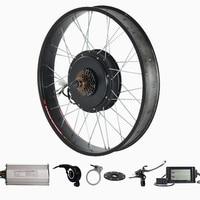 26 x 4.0 Fat tire electric bike kit 72v 2000w Electric Fat tire snow Bike Rear Wheel Hub Motor Kit
