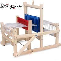 Dongzhur 385 * 260 * 320mm Children Craft Box Home DIY Craft Tool Wooden Hand Knitting Weaving Loom Toy Set Accessories QTW0569