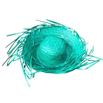 6PCS New Assorted Colors Straw Hat Chicken Nest Sunflower Hat Summer Carnival Party Hat Activity Decoration Supplies 1