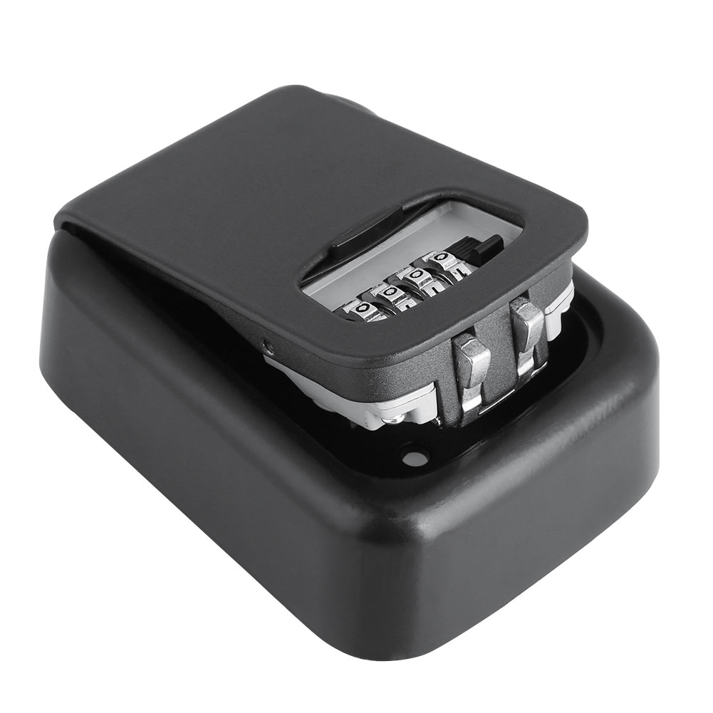 Storage Lock Box Key Box Metal 4 Password Resettable Code Password Box Aluminium Password Box Security Keys Combination