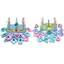 Детские Развивающие игрушки деревянные блоки форма Объединенная доска образование по методу Монтессори оперение здание кубики для игр матч игрушка