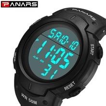 цена PANARS New Digital Watch Men Sport Watch Military Army LED Electronic Stopwatch Running Men's Wristwatch Clock relogio masculino онлайн в 2017 году