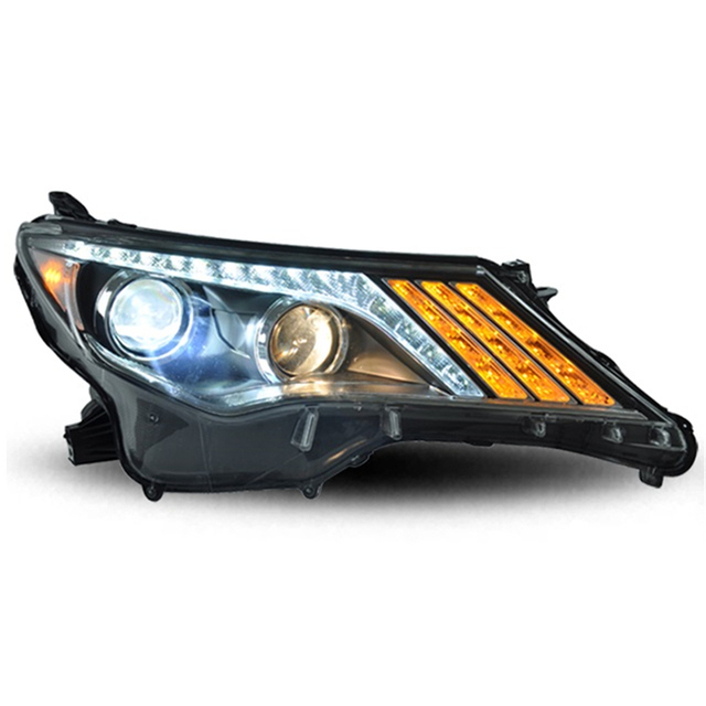 Parts Automobiles Cob Lamp Auto Daytime Assembly Drl Led Running Lights Side Turn Signal Car Lighting Headlights For Toyota Rav4