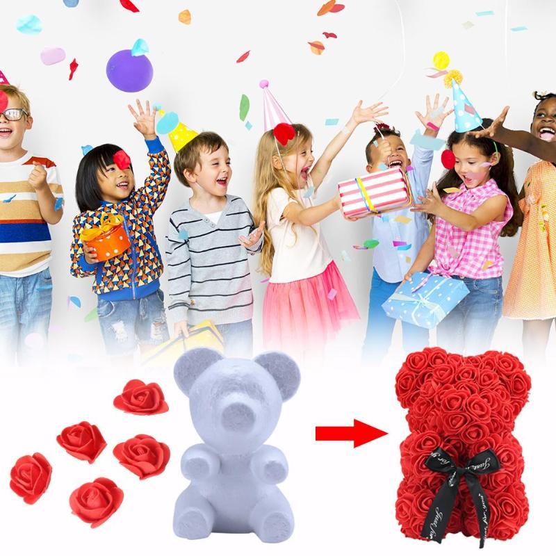 500pcs/set 3.5cm Foam Artificial Flower Diy Wedding Party Decorative Roses Toys For Children Elegant Shape Craft Toys Toys & Hobbies
