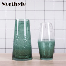 Cactus theme glass vase for home decoration flower bottle wedding floor christmas