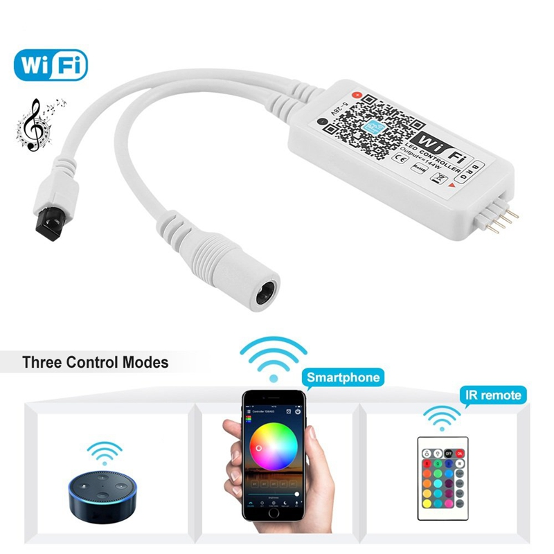 Lighting Accessories Ambitious Dc 5-28v Mini Wifi Rgb/rgbw Strip Controller Music Controller Smartphone And Timer Mode Magic Home Mini Wifi Led Rgb Controller Relieving Rheumatism And Cold Rgb Controlers