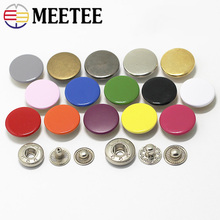 Meetee 20set 12/15/17mm Retro Snap Fastener Press Stud Buckle for Clothing Buttons DIY Clothes Hand Sewing Accessories D3-6