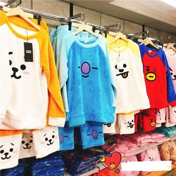 Bts Bt21 Cooky Kpop толстовка пижама для женщин пижама Feminino