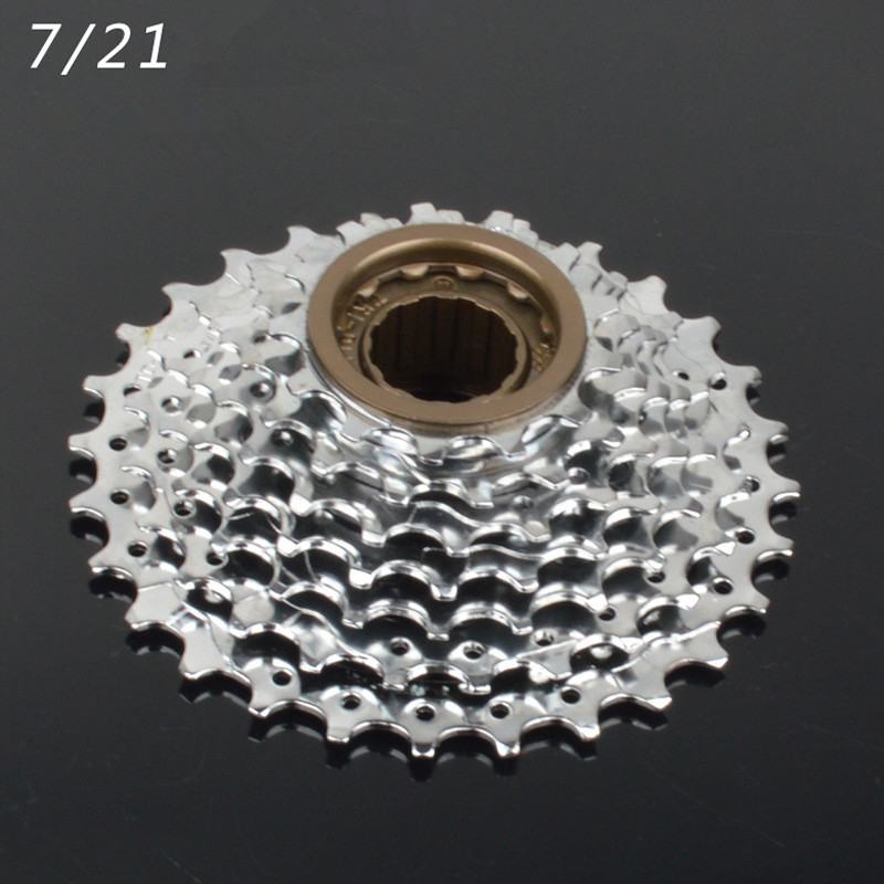 все цены на 2018 MTB Mountain Bike Freewheel 7 speed 21 speed Rotating Bicycle Flywheel 13-28t cassette variable speed flywheel онлайн