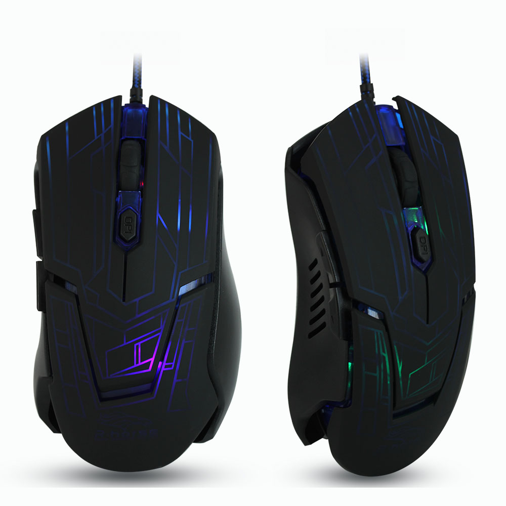 JONSNOW Gaming Mouse 3200 DPI Adjustable Optical Computer Opto-Electronic USB Wire Mouse Ergonomic Office Mice For Laptop PC