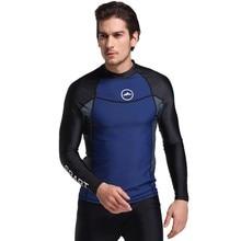 9e54a0616dfb5 Protección UV Lycra hombres de manga larga traje de baño nadar camisa de Surf  erupción para hombre Surf buceo traje de ropa