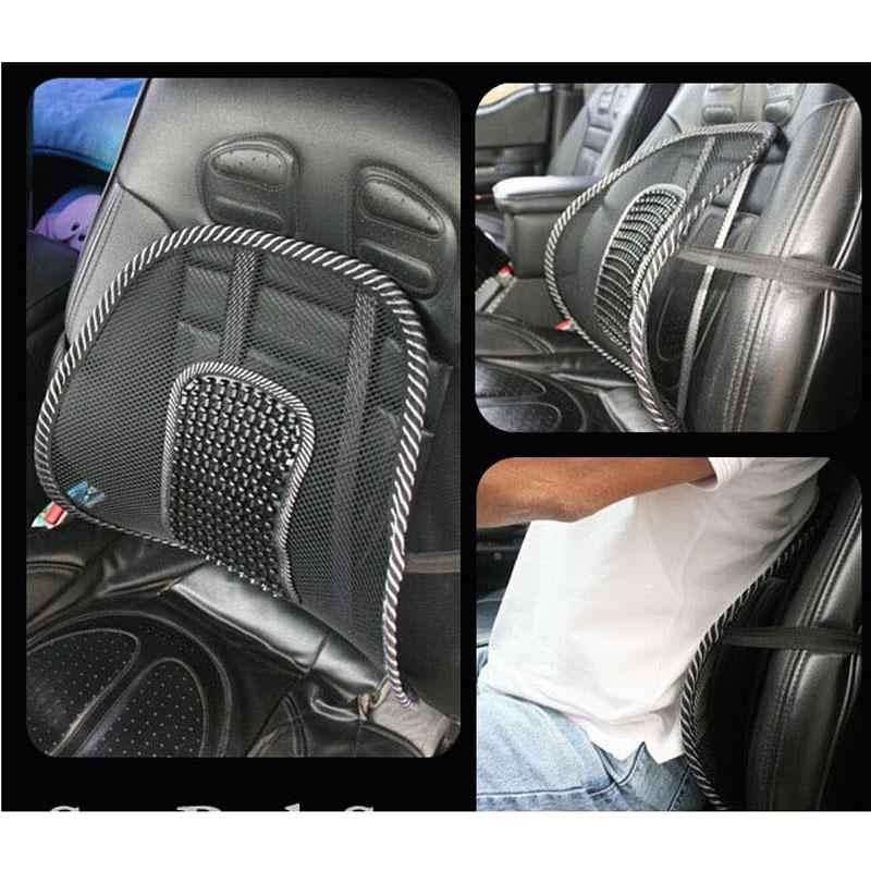Hitam Mesh Kain Kursi Mobil Kursi Pijat Lumbar Bantal Pinggang Mesh Ventilasi Cushion Pad untuk Mobil Kantor Rumah