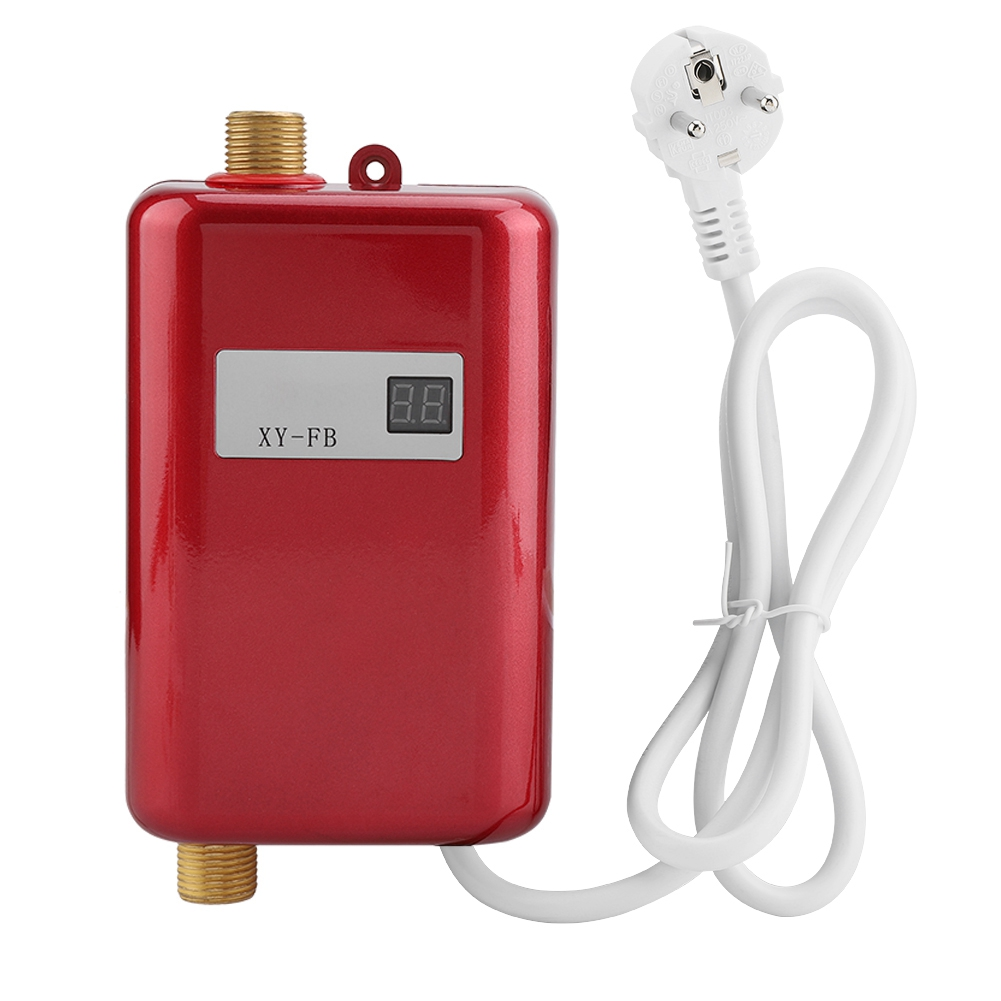 220V 3400W Mini Electric Tankless Instant Hot Water Heater Bathroom Kitchen Washing EU Plug Hot