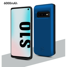 цена на For Samsung Galaxy S10 Battery Charger Case 6000mAh Slim TPU External Portable Power Bank Charger Case For Samsung S10 Case