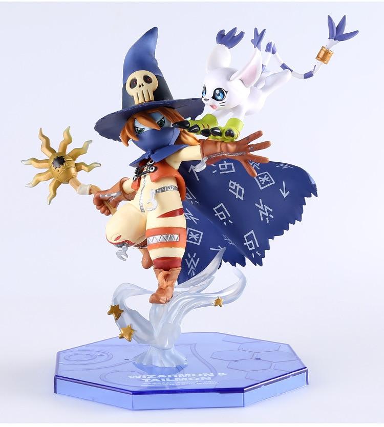 anime figurine Wizardmon / Wizarmon E Tailmon / Gatomon - Digimon Adventure Digital Monster Toy PVC Action Figure Model Doll(China)