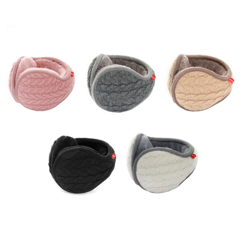 Winter Knitted Twisted Warm Earmuffs Unisex Cold-proof Plush Ear Warmers