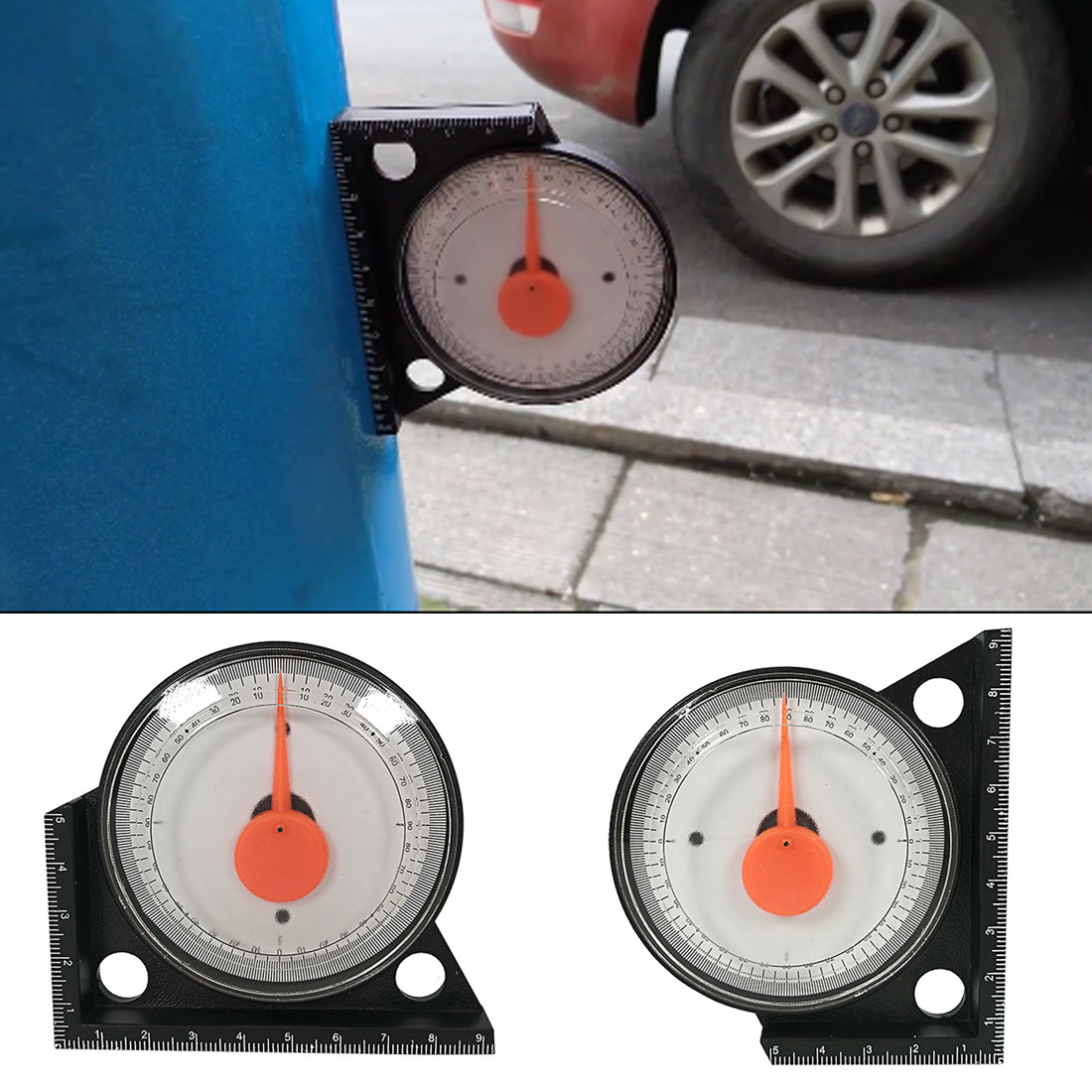 Clinometer Slope Angle Finder Magnetic Inclinometer Protractor Level Meter Part