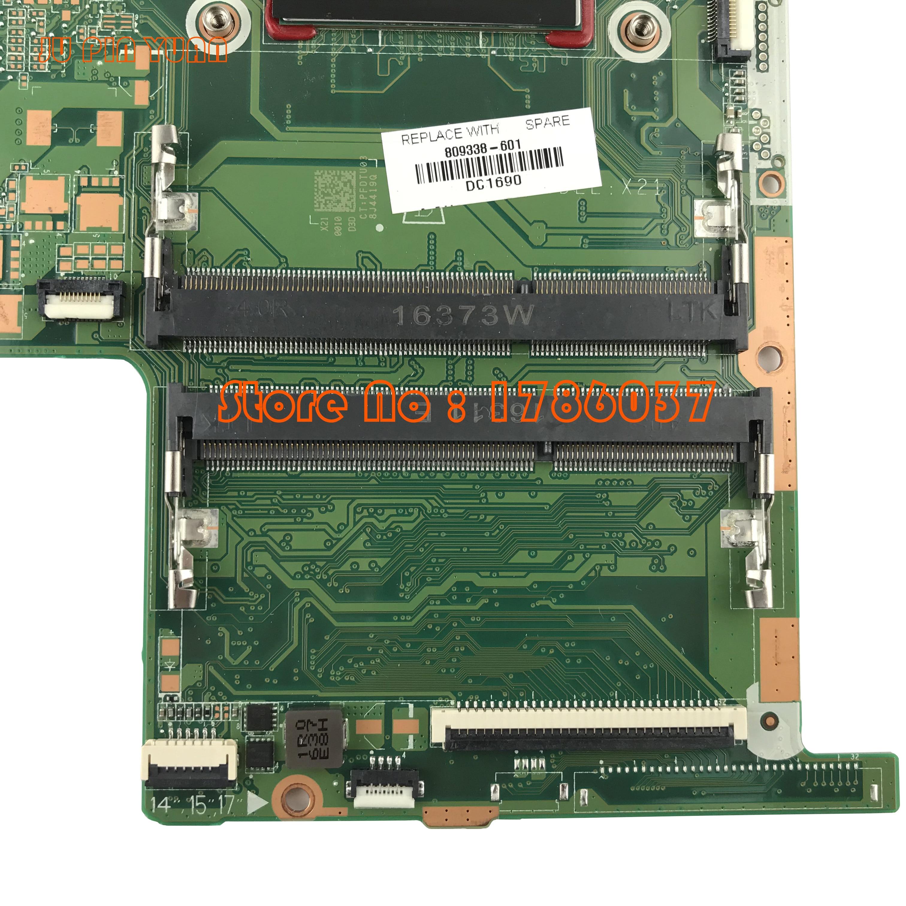 JU PIN YUAN 809338-001 809338-501 DA0X21MB6D0 Für HP Pavilion Notebook 15-ab Serie Motherboard Mit A10-8700P CPU 809338-601