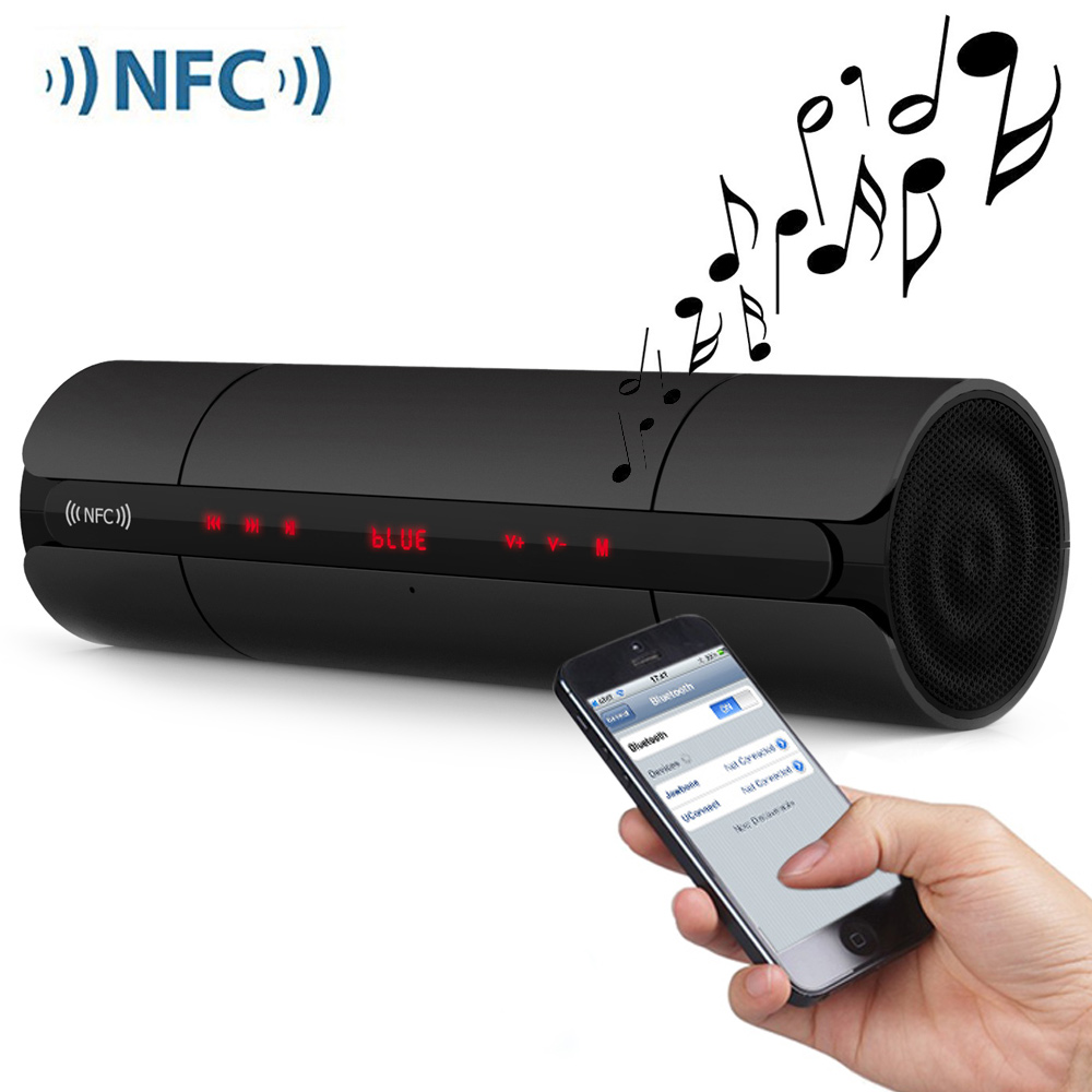 Multifunctional Portable KR8800 Matte Wireless Bluetooth V3.0 NFC Speaker Stereo Music Player With LED Screen FM Radio 1200mAhMultifunctional Portable KR8800 Matte Wireless Bluetooth V3.0 NFC Speaker Stereo Music Player With LED Screen FM Radio 1200mAh