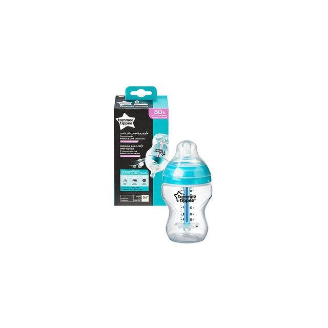 Бутылочка для кормления Tommee Tippee Advanced с усиленным антиколиковым клапаном и индикатором температуры, 260 мл.