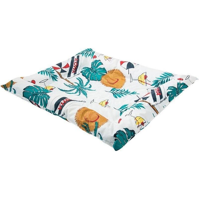 Été refroidissement Pet chien lit impression Gel chien lit tapis de glace chiot chat coussin Teddy matelas garder au frais en été pour les petits chiens