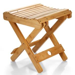 Image 4 - Natuurlijke Bamboe Draagbare Klapstoel Vissen BBQ Vouwen Kruk Inklapbare Stoel Camping Klapstoel Outdoor Wandelen Seat