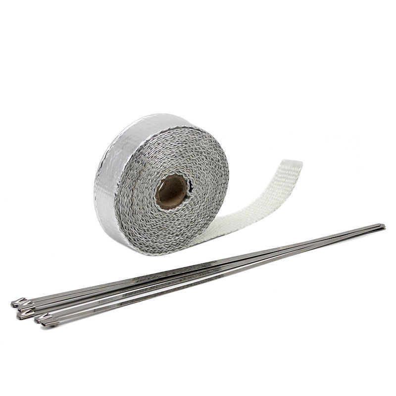 1 5mm 25mm 5m Universal MOTORCYCLE Incombustible Turbo HEAT EXHAUST THERMAL WRAP TAPE STAINLESS Exhaust Pipe Insulation Cloth in Exhaust Exhaust Systems from Automobiles Motorcycles