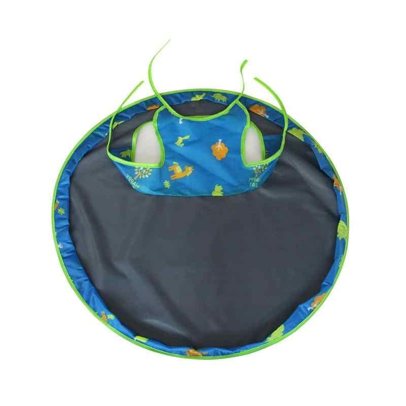 Коврик для кормления ребенка с блюдцем покрывало на стульчик для кормления противогрязный коврик для стола водонепроницаемая ткань Оксфорд круглая складная подушка для кормления